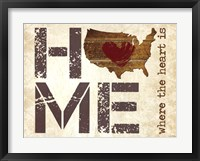 Home - Where the Heart is II Framed Print