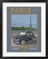 Paris 1961, 4CV Framed Print