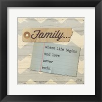 Family ... Framed Print