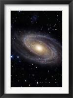Framed Messier 81, A Spiral Galaxy in the Constellation Ursa Major