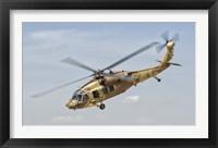 Framed Sikorsky UH-60 Black Hawk Yanshuf of the Israeli Air Force