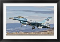 Framed F-16A Fighting Falcon, US Navy TOPGUN Naval Fighter Weapons School