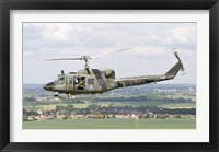 Framed Italian Air Force AB-212 ICO helicopter over France