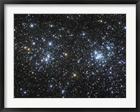 Framed Double Cluster, NGC 884 and NGC 869