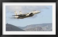 Framed US Air Force F-15C Eagle Over Spain