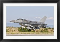 Framed F-16D of the Royal Singapore Air Force
