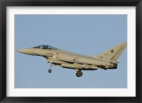 Framed Italian Air Force Eurofighter Typhoon (side view)