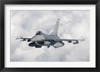 Framed F-16 from the Colorado Air National Guard in flight over Brazil