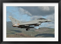Framed Eurofighter Typhoon of the Spanish Air Force