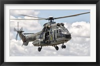 Framed Eurocopter AS332 Super Puma Helicopter of the Brazilian Navy