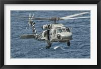 Framed US Navy SH-60F Seahawk