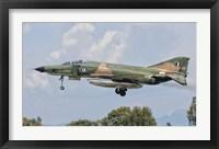 Framed F-4 Phantom of the Hellenic Air Force