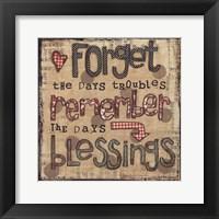 Framed Remember Blessings