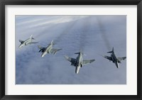 Framed Formation of Luftwaffe F-4F Phantom II's