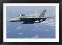 Framed CF-188A Hornet of the Royal Canadian Air Force (side view)