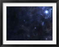 Framed Bright Star in Outer Space