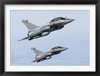 Framed Two Dassault Rafale B's of the French Air Force (side view)