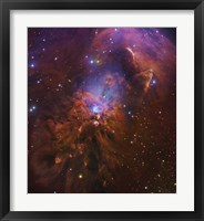 Framed Bright Reflection Nebula in Orion