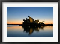 Framed Sydney Opera House at Dawn, Sydney, Australia
