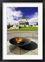 Framed Eternal Flame, Shrine of Rememberance, Melbourne, Victoria, Australia