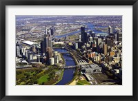 Framed Melbourne CBD and Yarra River, Victoria, Australia