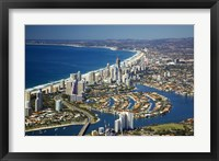 Framed Nerang River, Surfers Paradise, Gold Coast, Queensland, Australia