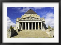 Framed Shrine of Remembrance, Melbourne, Victoria, Australia