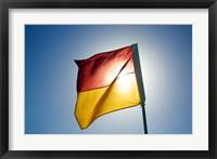 Framed Surf Lifesaving Flag, Queensland, Australia