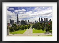 Framed View from the Shrine of Remembrance, Melbourne, Victoria, Australia