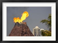 Framed Volcano, Sea World, Gold Coast, Queensland, Australia