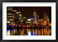 Framed Yarra River, Queens Bridge and CBD, Melbourne, Victoria, Australia