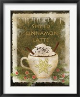 Spiced Cinnamon Latte Framed Print