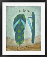 Framed I Love Flip-flops