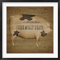 Framed Pig Sign