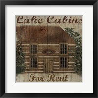 Lake Cabin Framed Print
