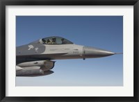 Framed F-16 Fighting Falcon During a Training Mission