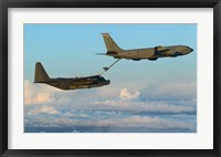 Framed MC-130H Combat Talon II Being Refueled by a KC-135R Stratotanker