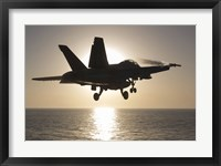 Framed F/A-18F Super Hornet in the Morning Sun over the Arabian Sea