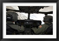 Framed Cockpit View of a CV-22 Osprey