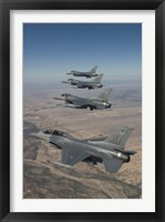 Framed Four F-16's on a Training Mission