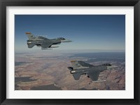 Framed Pair of F-16's near the Grand Canyon, Arizona