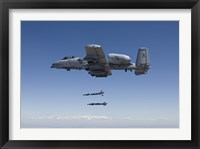 Framed A-10C Thunderbolt Releases Two GBU-12 Laser Guided Bombs