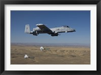 Framed A-10C Thunderbolt Releases two High Drag BDU-50's over Idaho