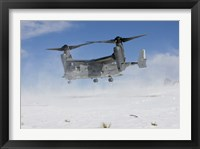 Framed CV-22 Osprey Takes Off