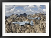 Framed Two A-10 Thunderbolt's in Central Idaho