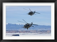 Framed Two HH-60G Pave Hawk's over New Mexico