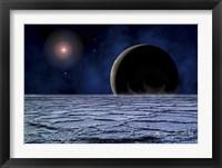 Framed Distant Star Illuminates an Extrasolar Planet