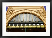 Framed Australia, Melbourne, Flinders Street Train Station