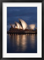 Framed Australia, New South Wales, Sydney Opera House Silhouette