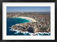 Framed Australia, New South Wales, Sydney, Bondi Beach - aerial